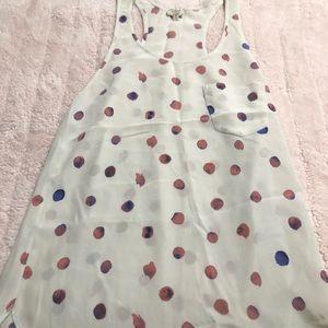 Aritzia Silk Polka Dot Top